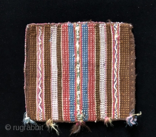 Four 19th century Aymara coca bags.  These bags all have natural dyes and are in excellent condition.  Coca bags were very important within Andean highland cultures going back many centuries.  ...