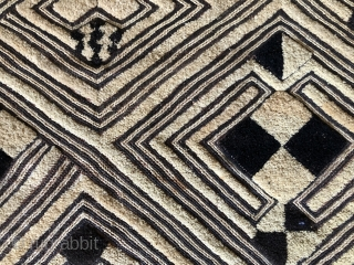 Kuba men's status cloth.  Shoowa people. Early 20th century.  23 x 25 inches.   Others available.  Images on request.