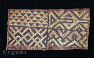 Two African cut pile raffia status cloths.  Complete panels.  Early 20th century.  Authentic, and on the primitive side.