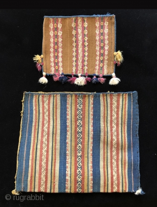 Tutorial part 9 – Two Early Blue Ground Alforjas – Medicine Man Bags - They Got The Blues.  These two alforjas with rarely seen indigo blue grounds are something special.  They are  ...