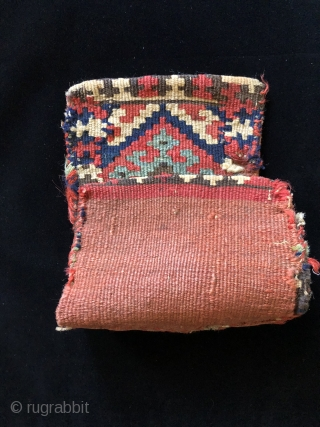 Complete set of miniature Kurdish bags. N.W. Persia - 19th century.  Size 7 x 15 inches.   All colors are good and natural.   A sweet little set of  ...