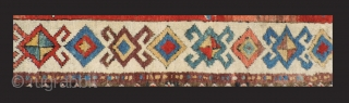 What a border! Early Shahsevan rug almost certainly before 1850.  The images of the back of the rug are not as focused as I had wanted.  Even so, they do  ...