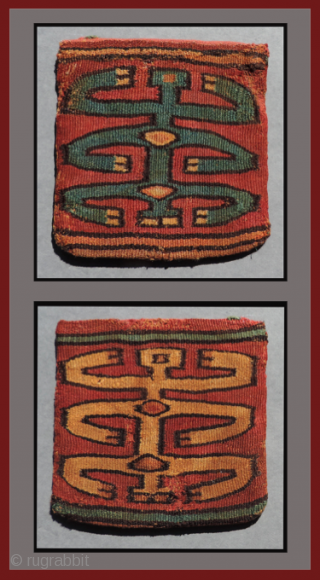 Four ancient Andean bags. All were woven sometime between  A.D. 100 - 1400.  Different cultures, different structures.