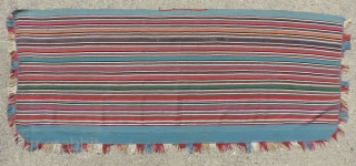 Colors! Cloth!  19th century Aymara poncho half.  Incredible color and weave with a supple handle and drape that is only seen in the finest Aymara warp-faced weavings. In excellent condition,  ...