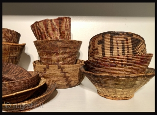 A group of ancient Andean baskets -  all were woven more than 1000 years ago and at more than 12,000 feet above sea level. Additional images and details available upon request.  ...