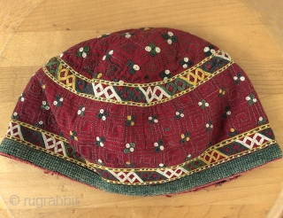 Central Asian hat.  Possibly Chodor, but not sure.  Images of hat were shot in shade and full sun for comparison.  Size 7 H x 10 inches in diameter.   ...