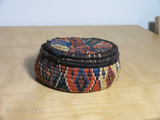 South Persian wool wrapped baskets. All natural dyes. 19th century.