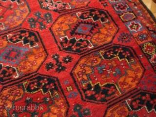 Screaming Amu Darya area main carpet circa 1850. 2.40m x 2.08m
