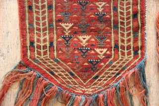 Small and fine Tekke Khalyk, circa 1850. Beautiful colours and magenta silk highlights Has now been beautifully cleaned.