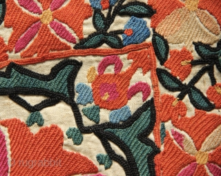 Mid 19th century 'Nim' suzani in excellent condition and with beautiful colours