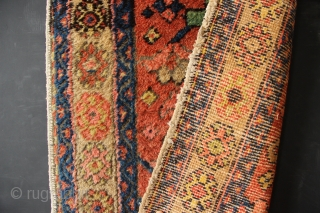 Small, narrow Gorevan runner, Heriz district of North West Persia, circa 1920. In full pile, with no repair, all original, save for a very small low spot in the field near the  ...