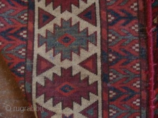 Dyrnak gul yomud main carpet, first half nineteenth century. New sides, some old reweaves. Pile height mostly very good. Incredible green and strong yellow throughout.