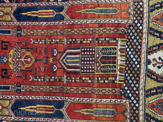 """7'7"""" x 4'1""""  Beautiful and intricate Yahyali from Zile.  Circa 1940"""
