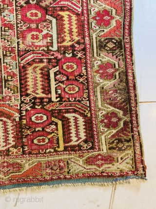 """An absolutley impeccable and fantastic 19Ca Gordes Prayer rug. Great colors and in original condition with sound selvages, no holes, no rips, no repairs. Amazing. 7'11""""x4'3"""""""