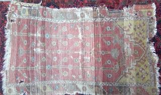 Antique Anatolian 3 Tree prayer rug fragment