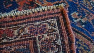 Circa 1900 4.4 x 8.5 feet.  Northwest Persian Bijar.  Wool foundation.  Good condition.  No repairs, but low pile.