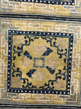 Ningxia temple mat blanket, early 19th century, size 224x58cm, welcome to consult