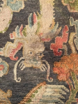 Tibet carpet; About 50 year; Size is 158×90cm; Welcome to consult!