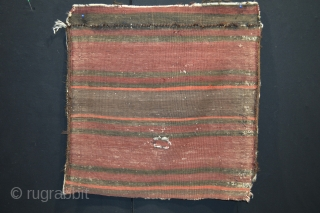 Rare type of Baluch Bagface end of 19th century. 100% tribal art. coroded brown 100% natural colors.