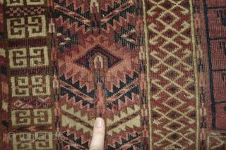 Beautiful Antique  19th century Tekke Turkoman ensi with good characteristic patern