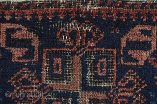 Wonderfull Early Baluch Baluch Bagface  good saturated colors dark purple stars attractive very early piece 56 x 46 cm