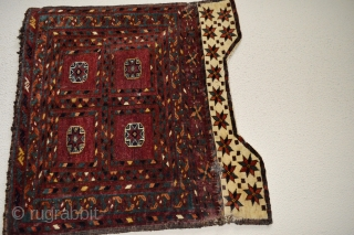 Sweet Original  Antique Turkoman collectible and decorative AS open Left .Silk Highlights.As found . Good soft shiny wool. Back side green color is front side blue. Good Colors. Natural and non natural color.  ...