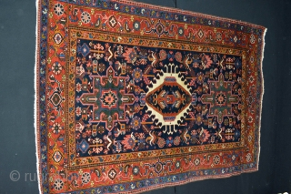 This Northwest Persian Rug is made by Karacha (Karadja) Area.First quart 20th century(1900-1925) Very Good Qualty wool, 100% Natural Colors Good pile some area littlebit lower. Size 198 x 141 centimeters. Very  ...