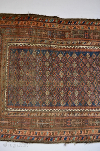 Stunning Early  19 th century Baluch 177x 126 cm Music for the eyes Colors just the song Nina Simone's take care business for me : )