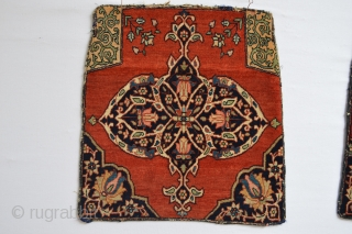 stunning sarouk feragan antique fragments  with beautiful colors and quality wool 