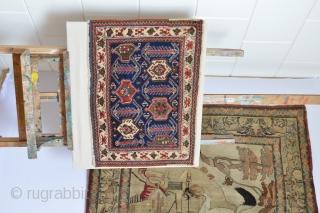 Beautiful antique Full pile Afshar bag face  circa 1900