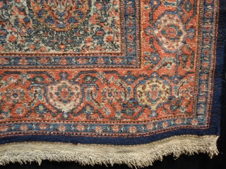 Incredible fine end of 19th century Senneh. In very good condition a few tiny repairs.Good shiny silky wool. No wears or other problems. 222 x 141 cm