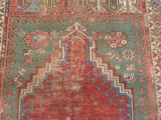 Grandiose end of 18th century or begin 19th century Anatolian prayer. Great colors and exxelent colector item.