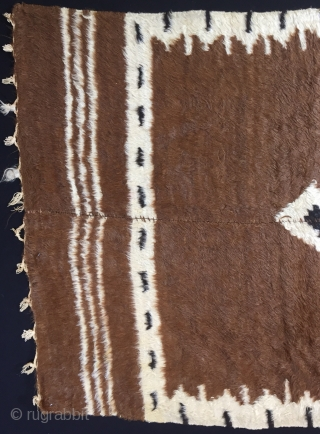 "Anatolian Goat (Angora Wool)Hair Siirt Blanket Size:148x105cm / 4'10""x3'6"""