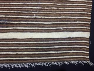 "Anatolian Goat (Angora Wool)Hair Siirt Blanket  Size:197x156cm / 6'5""x5'2"""