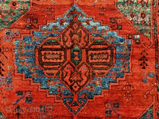 """Central Anatolian Karaman Area(Ayrancı village Rug) end of 18th / beginning of the 19th  Century Size:286x140 Cm /9'5""""x4'6"""" Very high pile,great dyes..."""