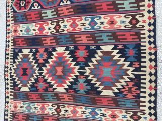 "Caucasian Kilim 19th Century Size:427x156cm / 14""x5'1"""