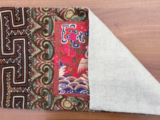 Chinese Embroidery 19th Century Size:54x30cm / 21x11 inç Made it a pillow it ,linen Backing and hidden zipper