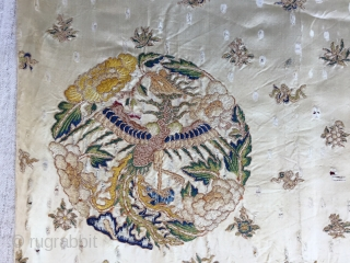 Chinese -silk-embroidered-wedding-apron-skirt 19th Century
