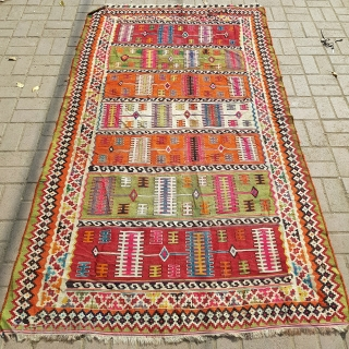 Qashqai Kilim,very finely woven,good colors and condition without any repair.E.mail for more info and pics.