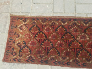 "Large Jalor with good colors and design,soft shiny wool,all original.Size 6'1""*1'4"".Email for more info and pics."