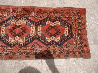 """Beautiful jalor with all good natural colors good age and shining wool,all original.Size 4'*1'6""""..E.mail for more info and pics."""
