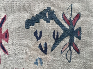 (SOLD)sharkoy distressed Kilim   Size 10'x 8'4 Ft