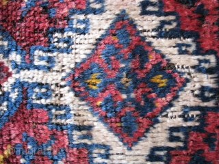 Southeasthern anatolia (malatya) antique yastik rug 20th century, back side is original kilim and cicim made wool on hair! Size:77cm x 49cm - 2.52ft x 1.60ft. To visit my other collections, https://www.etsy.com/your/shops/KILIMSE