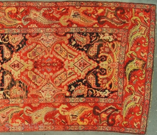 Caucasian Karabagh, c. 1918. 7 x 17 ft (205 x 520 cm), good condition, dated AH 1336. Truly a magnificent rug.