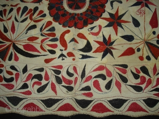 Kantha Quilted and embroidered cotton kantha Probably From East Bengal(Bangladesh)region.India.Its size is 70cmX80cm(DSC01821 New).