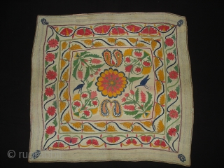 Kantha Quilted and embroidered cotton kantha Probably From East Bengal(Bangladesh)region.India.Its size is 78cmX85cm(DSC01842 New).