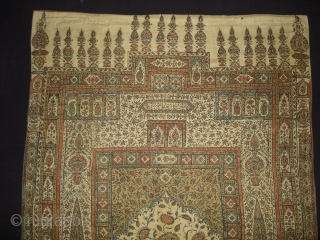 Kalamkari of Jainamaz style, From Msulipatam,Andhra Pradesh,India.Made for Persian Market,C.1835.Hand spurn cotton,Natural Dyes.Its size is 90cmX120cm(DSC01906 New).