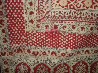 Saudagiri Block Print(Cotton Khadi)From Gujarat,India.Its size is 170cmx215cm(DSC02015 New).