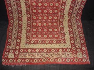 Saudagiri Block Print(Cotton Khadi)From Gujarat,India.Its size is 130cmx245cm(DSC02025 New).