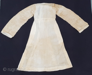 Angarkha(Coat)Child fine Muslin Cotton with Chikan Lace Work,From Deccan ,South-India, India.C.1900.Worn by Royal Nawab Muslims Family Of Deccan(20190117_124333 ).